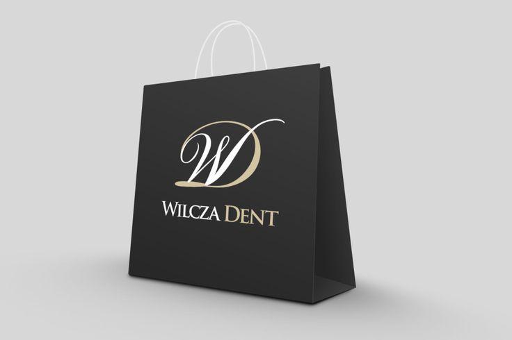 Wilcza Dent branding, logo, logotype, bag