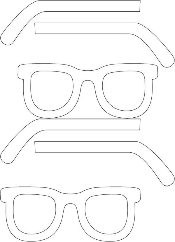Eye glass template