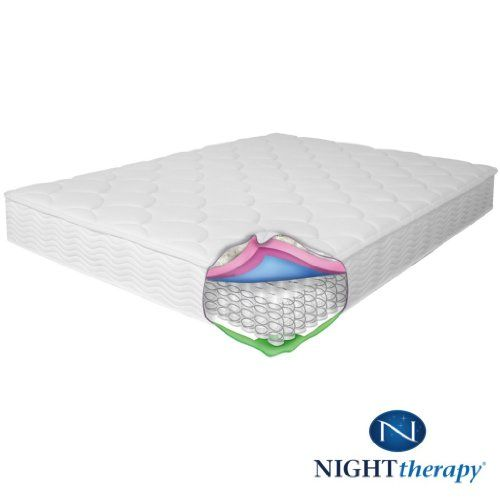 night therapy spring mattress and bifold box spring set a total sleep solution from night therapy this complete bed set includes an - Box Spring Mattress