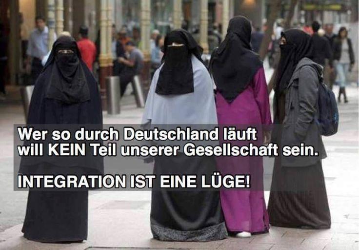 Wer so durch Deutschland läuft, will KEIN Teil unserer Gesellschaft sein. INTEGRATION ist eine LÜGE!