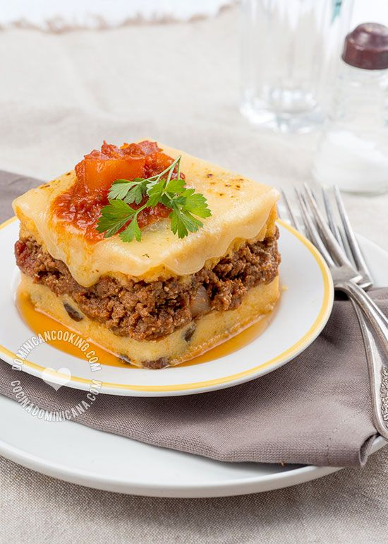 Pastelón de Harina de Maíz Recipe (Cornmeal & Beef Casserole): Think of this as the lovechild of polenta and lasagna. It combines savory and sweet flavors and results are amazing.