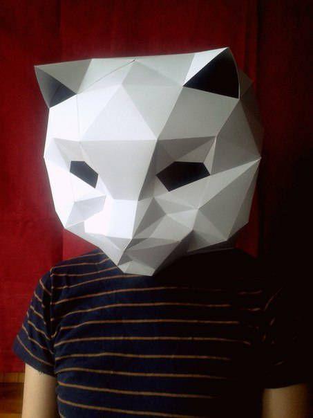 Cat Mask (Mascara GATO) Papercraft DIY de PaperArtMX en Etsy