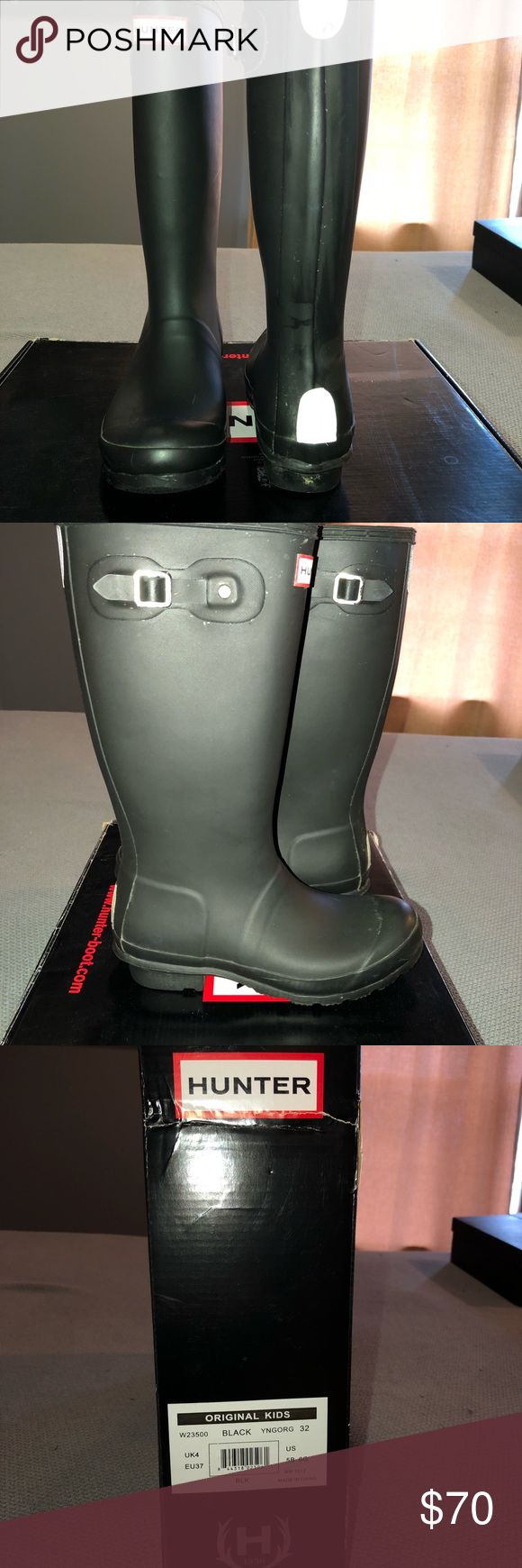 Kids Hunter Rain boots Kids Hunter Rain boots Black US size 5 but fit a woman size 7 Hunter Boots Shoes Boots