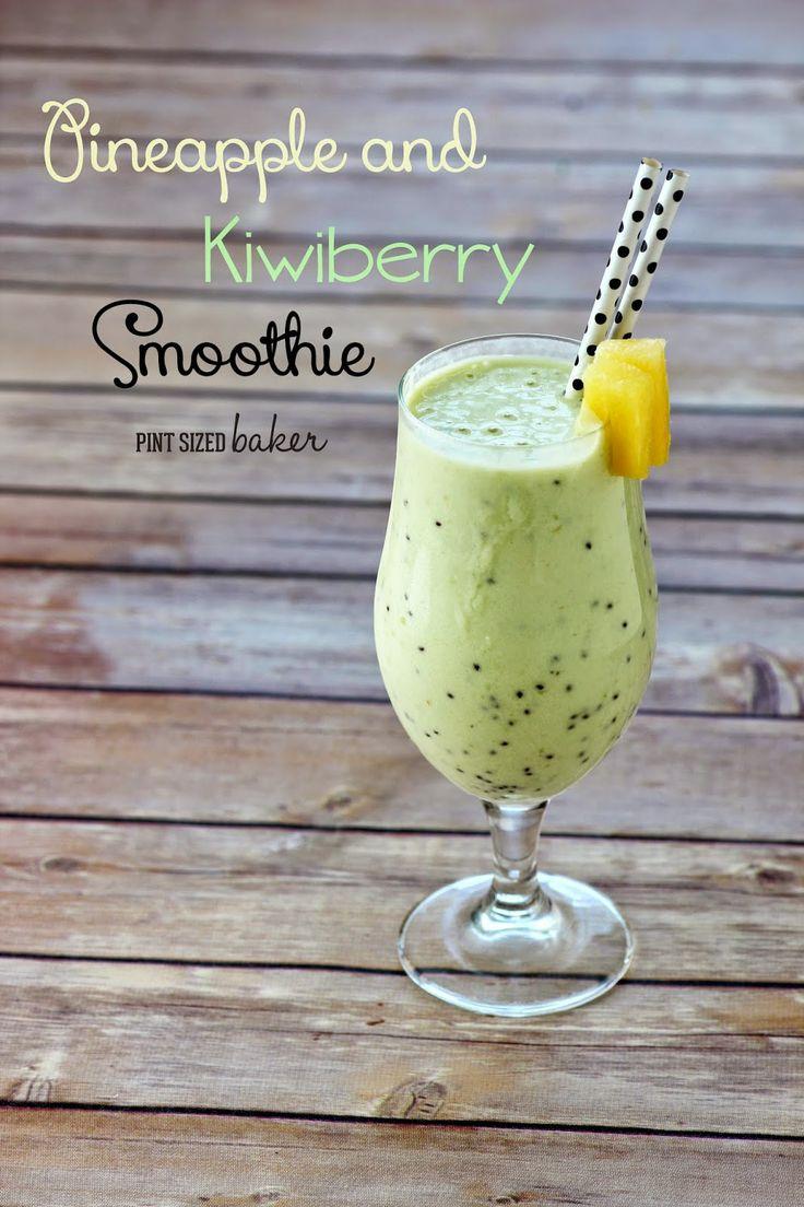 Pint Sized Baker: Pineapple and Kiwiberry Protein Smoothie Schmelzflocken statt Proteinpulver?