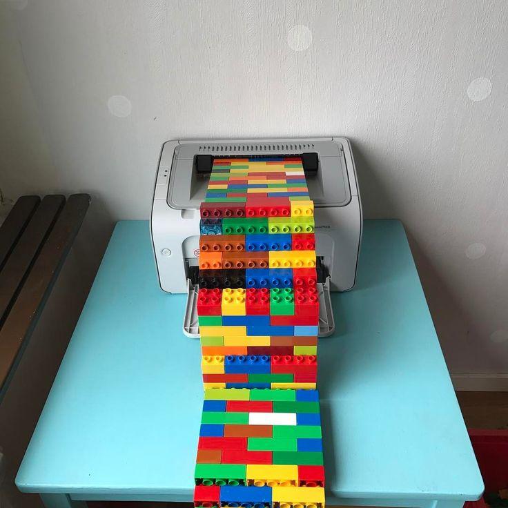 Duplo printer.  #printer #3dprinting #hp #laserjet #neverending #lego #duplo
