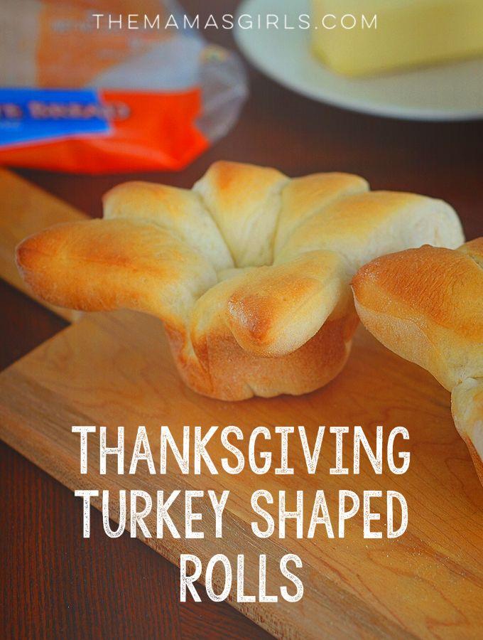 Thanksgiving Turkey Shaped Rolls