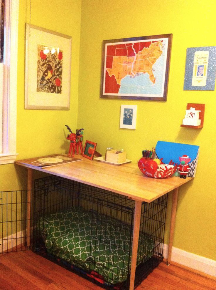 We don't use a dog crate now, but what a great idea.