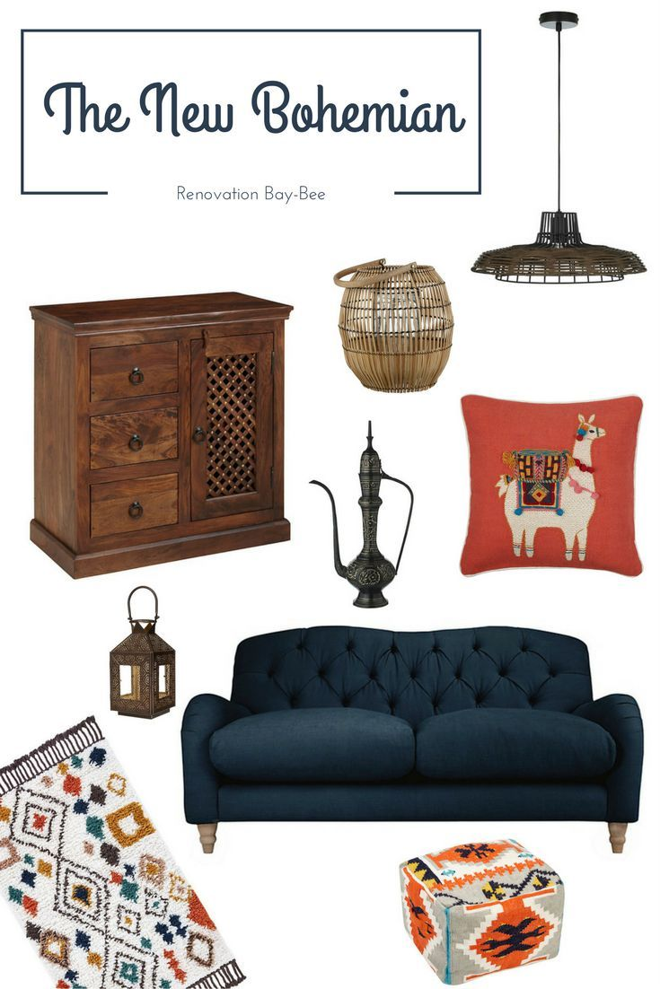The New Bohemian range is such a beautiful, colourful style. With a mix of global influences including African plain, Moroccan Souk and Turkish Bazaar.  With patterns, colours and the beautiful textiles that are included in this range. With a plain navy sofa, but then full of colour and patterns that have a very fun vibe about them.