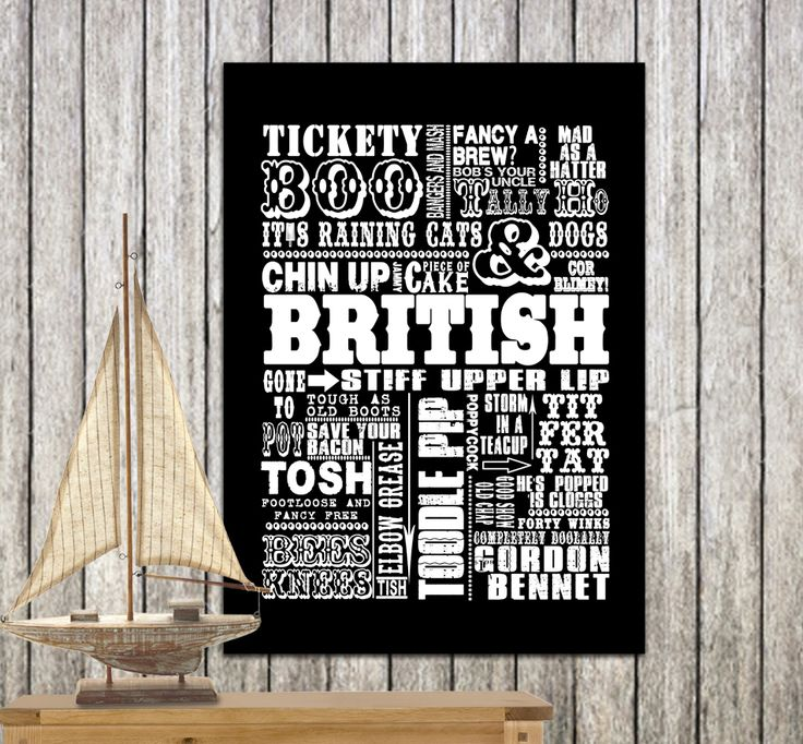 Traditional British Sayings, including toodle pip, tally ho, tosh, tickety boo and many more! www.monkeyofthenorth.co.uk
