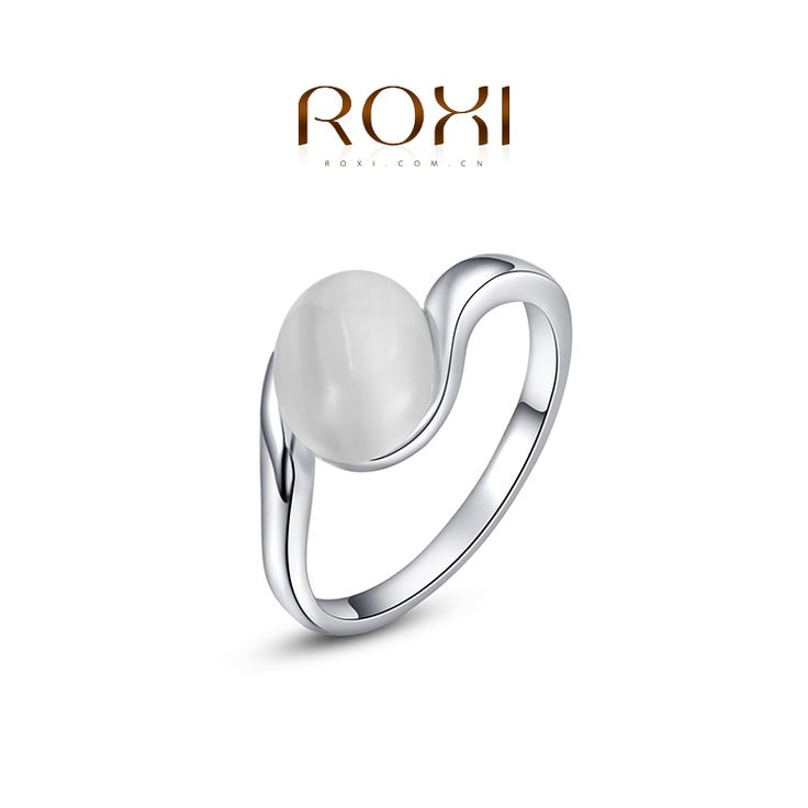 Statement Opal Ring Platina Plated