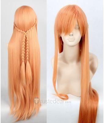 Sword Art Online Asuna Cosplay Wig $29.99 - Anime Cosplay Hairpiece - Brown Hair