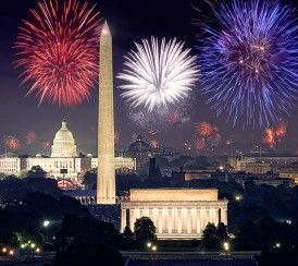 The rockets red glare: Fourth of July fireworks delight patriotic crowds on the National Mall.