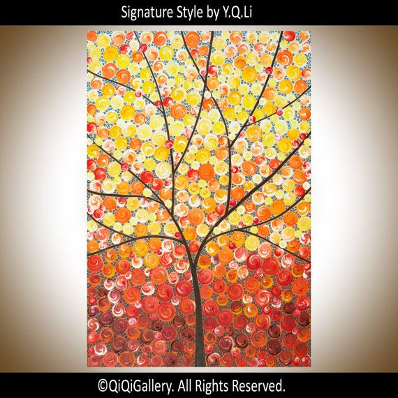 Sale Abstract painting wall decor home decor di QiQiGallery