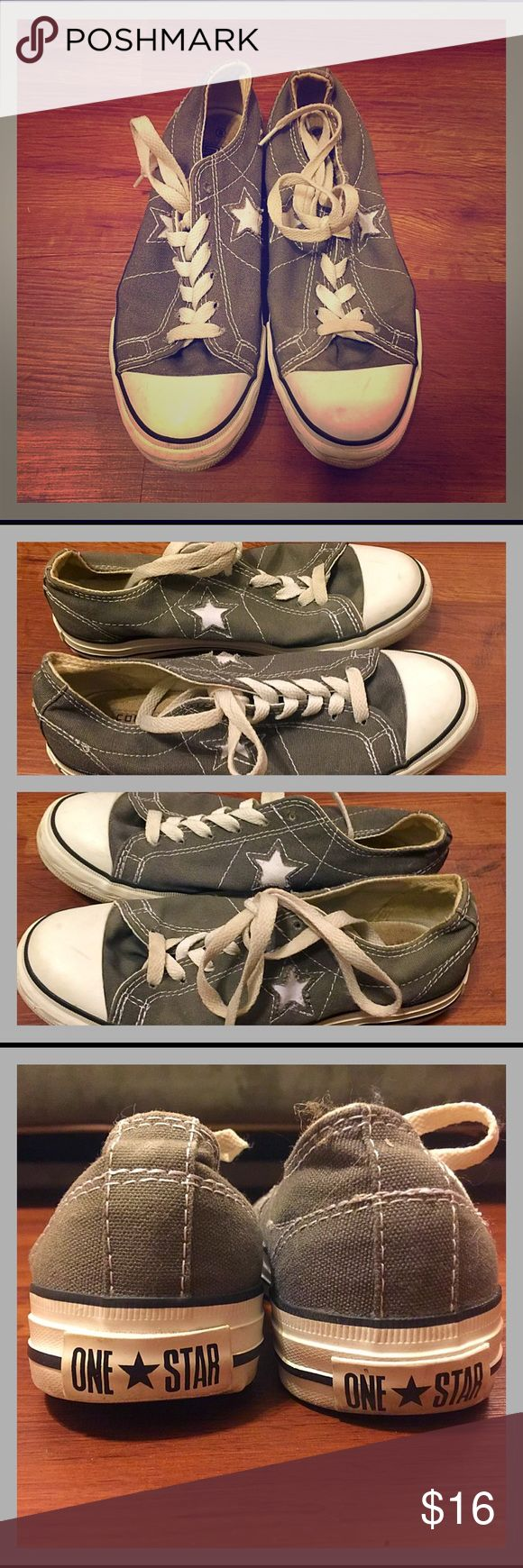 Converse One Star Only worn a couple of times - minimal signs of wear.  With Converse, I would typically suggest going a size smaller.  I wear a 7, and these fit more like a 7 than a 6.  🌟 TOP RATED SELLER 🌟 FAST SHIPPER 🌟 Converse One Star Shoes Sneakers