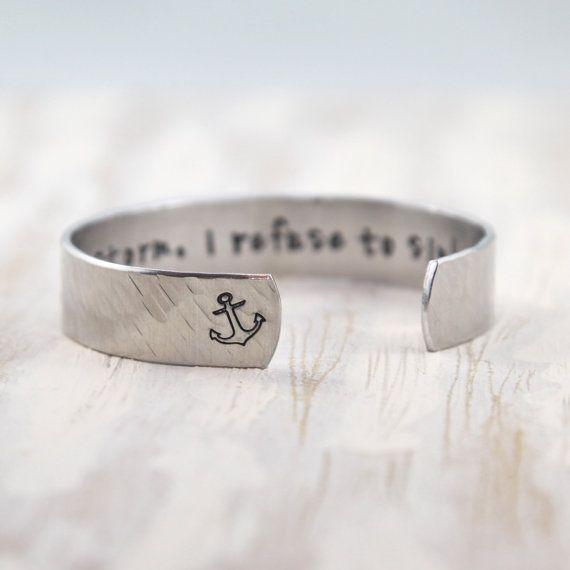 Refuser dévier Bracelet ancre bijoux nautique ancre par ClairAshley