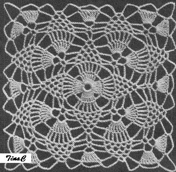 crochet motifs patterns free | Totally Free Crochet Pattern Blog - Patterns: Pineapple Lace Cloth ...