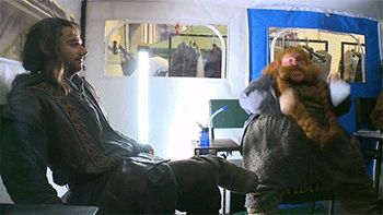 Bombur rocking his socks off. This cast...Kili is just sitting there... I CAN'T STOP LAUGHING