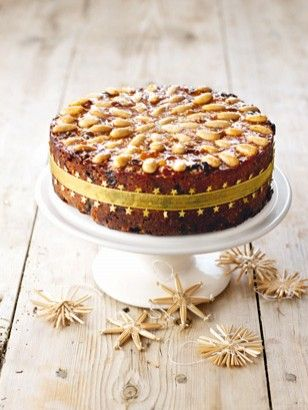 GORGEOUSLY GOLDEN FRUIT CAKE, by Nigella Lawson (Kathy make this at Christmas 2013 and it was delicious!)