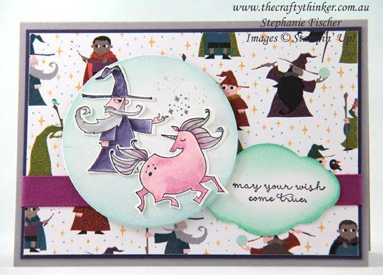 www.thecraftythinker.com.au, Magical Day Bundle, Myths & Magic, unicorn, youth card, Stampin' Up!