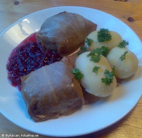 Recept - Tore Wretmans kåldolmar Swedish cabbage rolls.