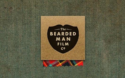 textured background, metallic, plaid.Film Logo, Badges, Visual Identity, Design Ideas, Harrison Design, Plaid, Man Film, Brand, Beards Man