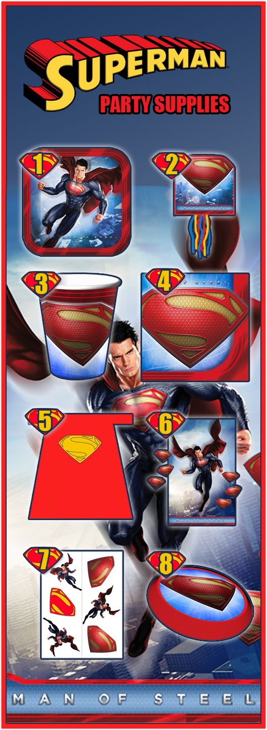 8 Superman Party Supplies That Herald the Return of the Man of Steel - After what seemed like forever Superman has returned to party supplies.