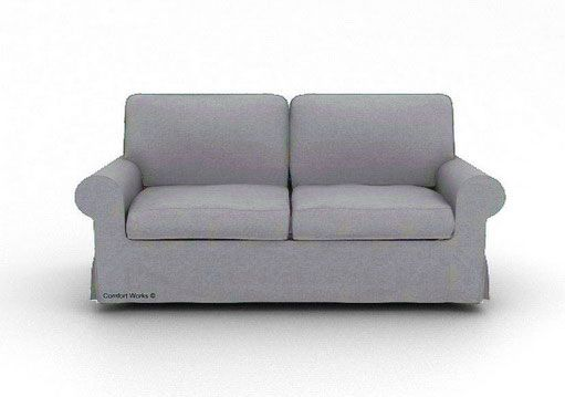 IKEA Ektorp Sofa Cover - Replacement Slipcover-Kino Ash