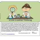 These cards contain question stems for each of the Creative Thinking Skills: Fluency, Flexibility, Elaboration, and Originality.  The question card...