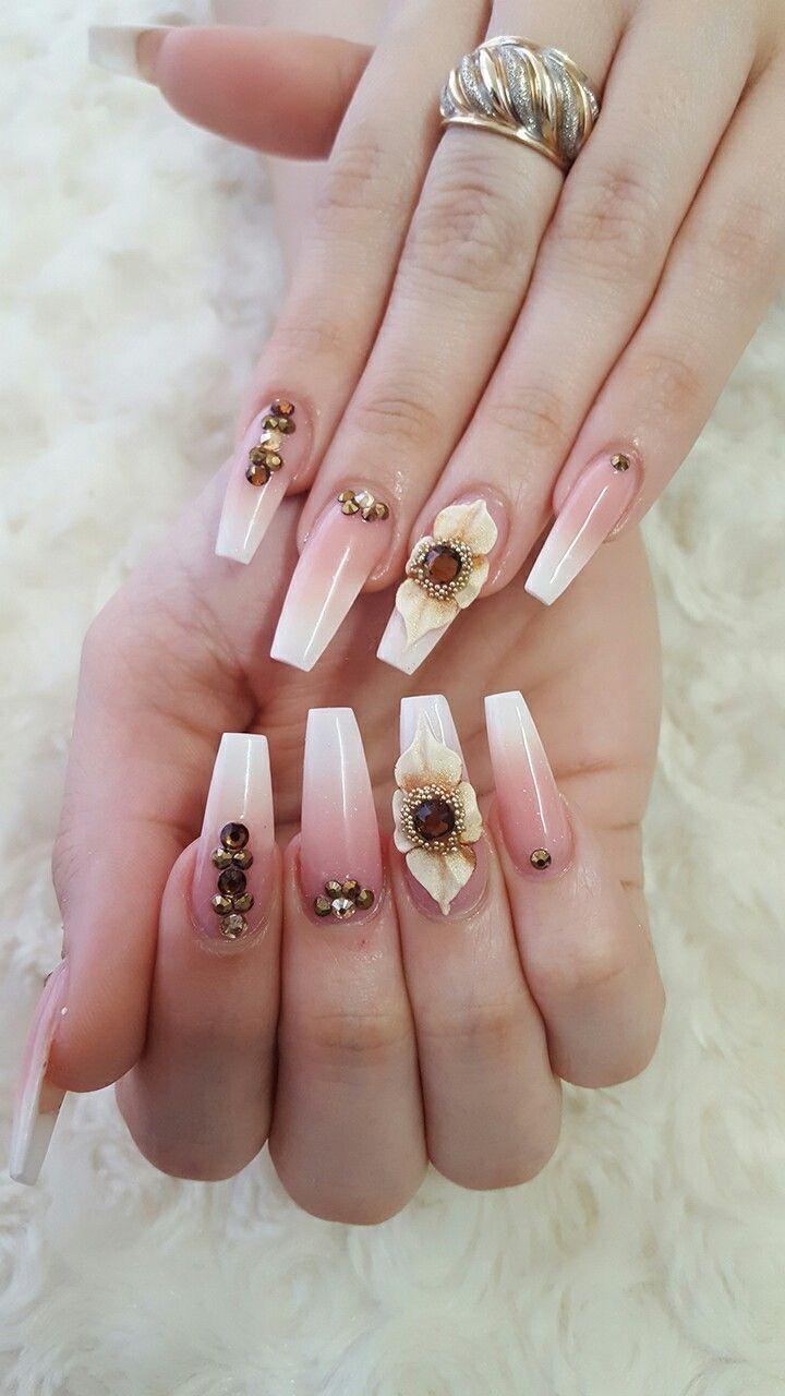Really cute nail art idea for 2019! Bling Nails b4aab437d561