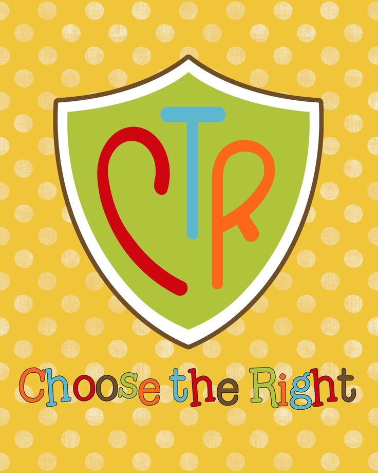 """A Pocket full of LDS prints: Free Prints - 2017 Primary theme """"Choose the Right."""""""