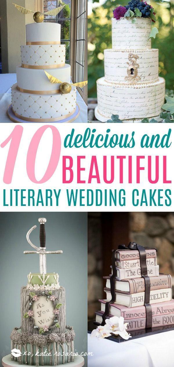 10 köstliche und schöne literarische Hochzeitstorten | Haben Sie eine Hochzeitstorte, die sho …   – Jankosky Wedding
