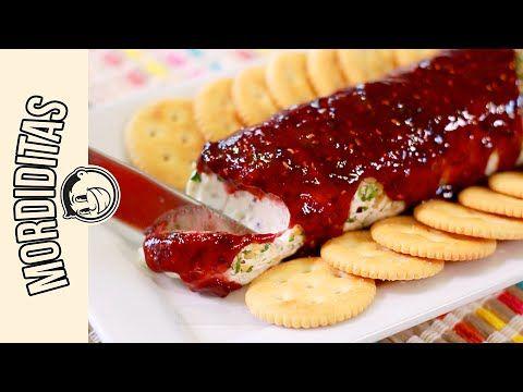 Cheese Log with Raspberry Sauce QUESO CON MERMELADA EL GUZII