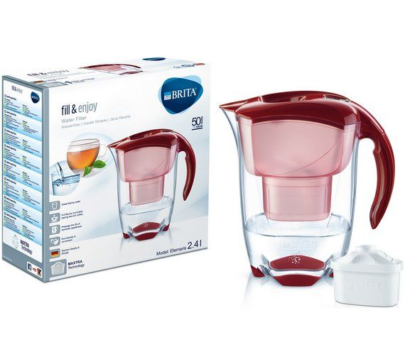 Buy BRITA Elemaris Meter Cool Water Filter Jug - Red at Argos.co.uk - Your Online Shop for Water jugs and filters, Kitchenware, Cooking, dining and kitchen equipment, Home and garden.