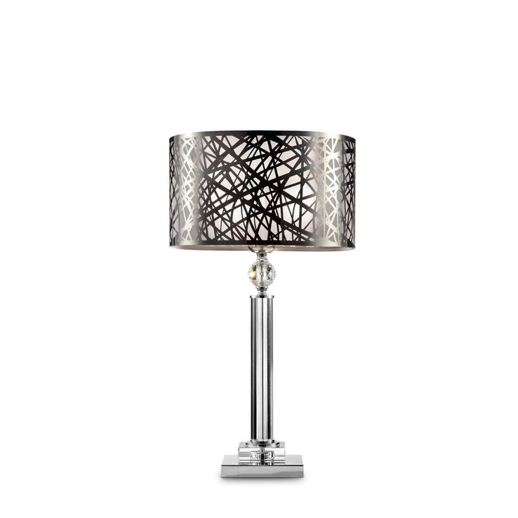 27.5 in. Array Crystal Silver Table Lamp