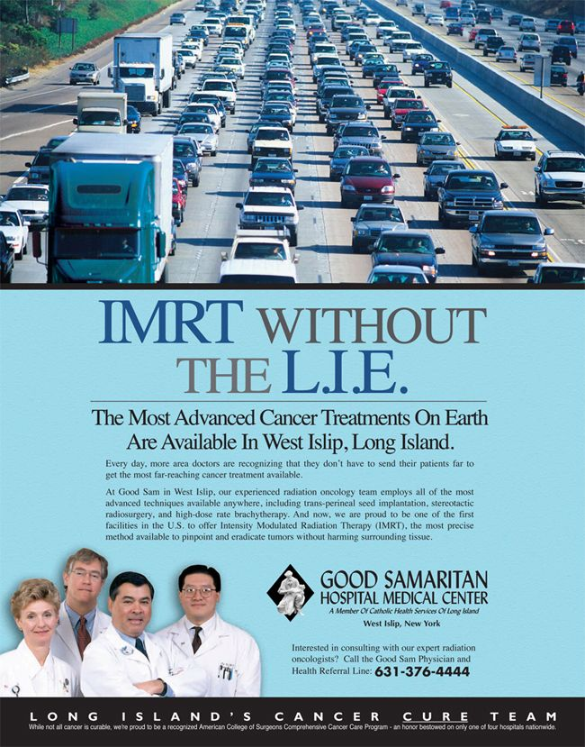 "Good Samaritan Hospital Medical Center ""Thank You, Good Sam."" Print ad campaign"