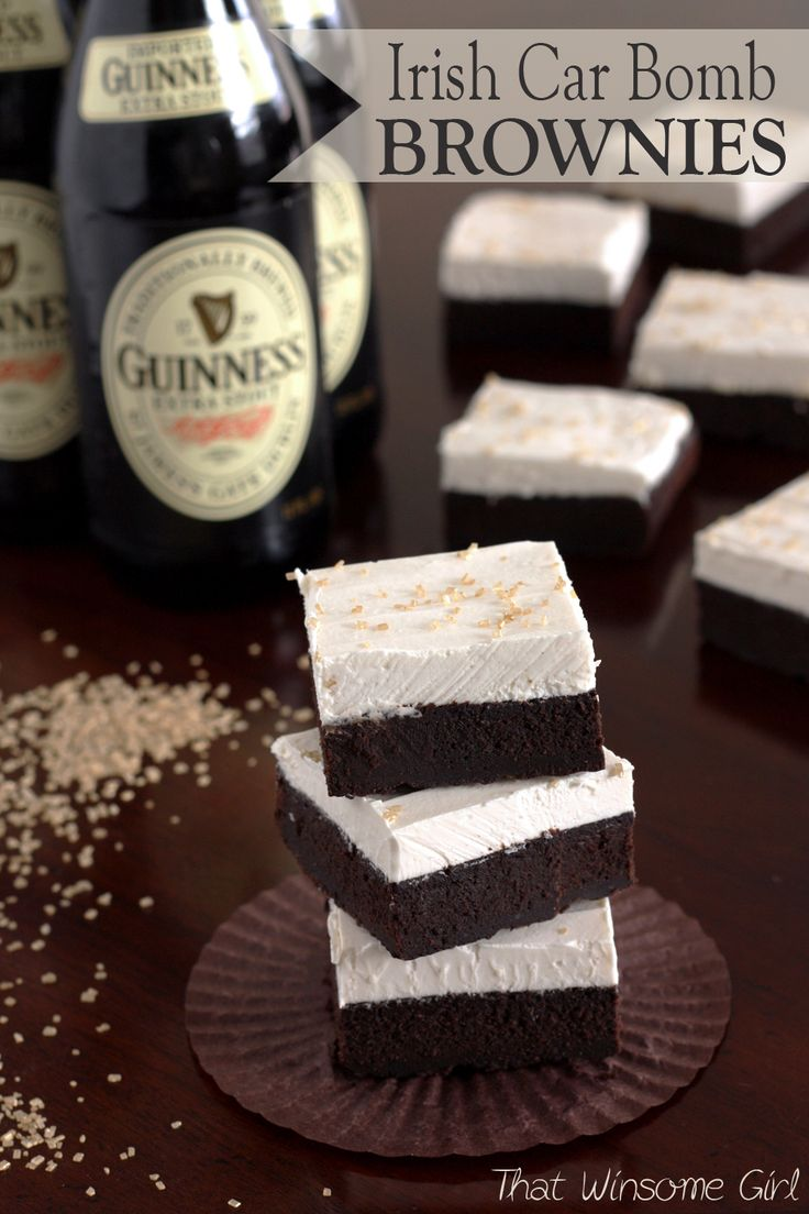 Irish Car Bomb Brownies: an adult treat for St. Patrick's Day ...