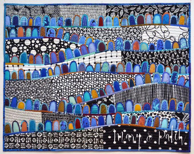 Maryline Collioud-Robert, A Happy Place, art quilt, fused appliqué