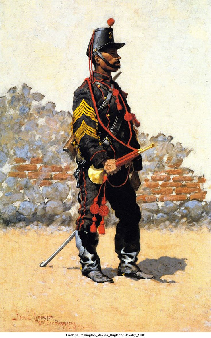 Mexico; Cavalry, Bugler, 1889 by Frederic Remington