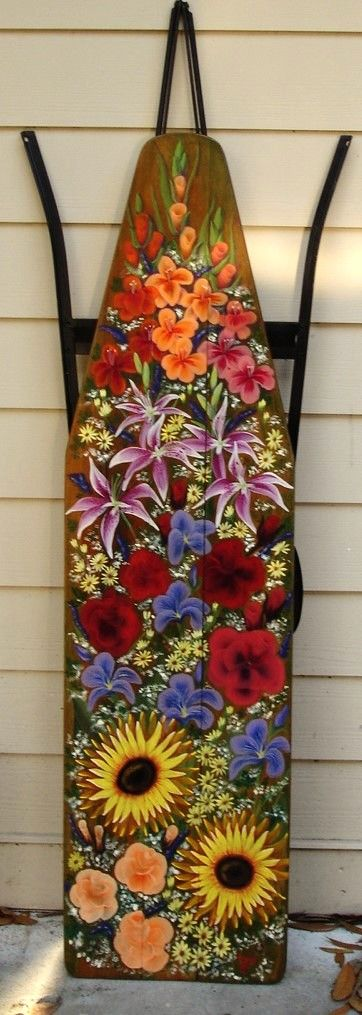 Hand Painted Vintage Wooden Ironing Board