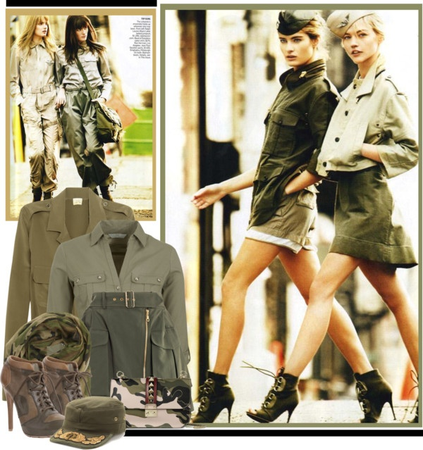 """""""Military Chic"""" by summersunshinesk7 ❤ liked on Polyvore"""