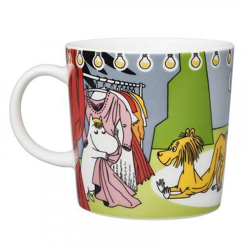 27.3.2017: Summer Theater mug 0,3 l plate spoon Moominpappa spoon Little My Motives on the Moomin summer season series 2017 are...