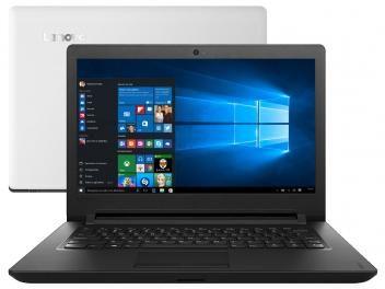 """de R$ 1.999,00 por R$ 1.349,90   em até 10x de R$ 134,99 sem juros no cartão de crédito  ou R$ 1.255,41 à vista (6% Desc. já calculado.) Notebook Lenovo Ideapad 110 Intel Dual Core - 4GB 500GB LED 14"""" Windows 10"""
