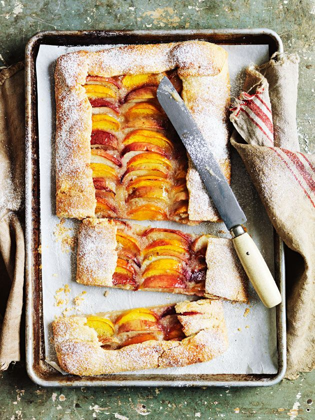 peach tray tart from donna hay