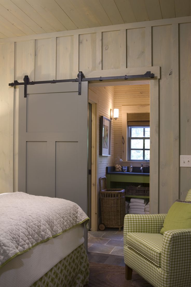 guest bedroom barn door decor vignettes pinterest