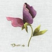 Free Embroidery Pattern: Sweet Pea by Trish Burr