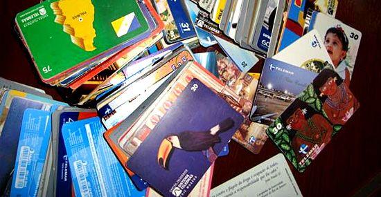 Coleção de Cartões Telefônicos raros