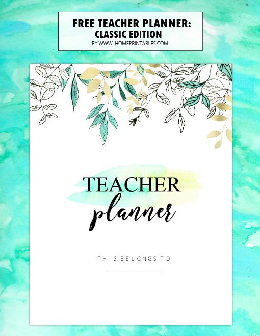 Teachers time to get organized! You'll love this free teacher planner printables that we have for you with over 35 planning sheets for your classroom use!