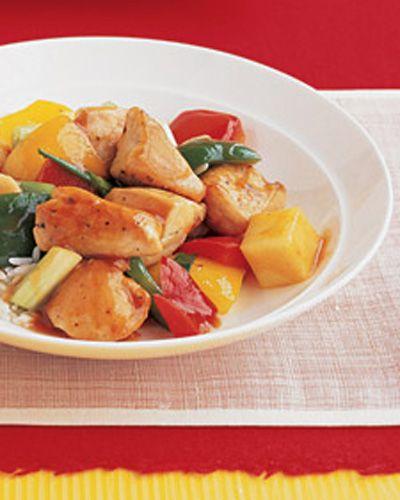 Sweet and Sour Chicken Crock Pot Recipe - 5 Point Value - LaaLooshChicken Crock Pots, Chicken Recipe, Sweets, Sour Chicken, Weights Watchers, Martha Stewart, Fast Food, Crock Pot Recipes, Chicken Breast