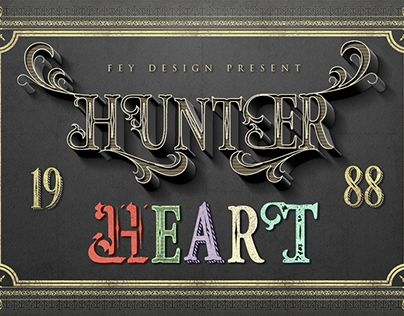 "Check out new work on my @Behance portfolio: ""Hunter Heart Free Font"" http://be.net/gallery/40629949/Hunter-Heart-Free-Font"