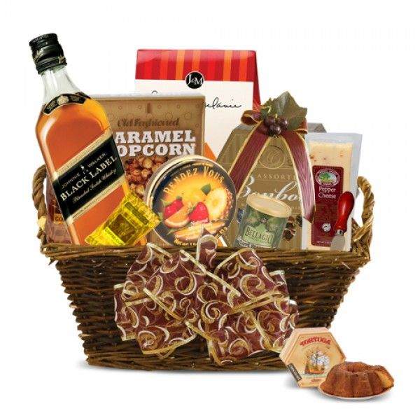 29 best liquor alcohol gift baskets images on pinterest alcohol johnnie walker black label gift basket negle Image collections